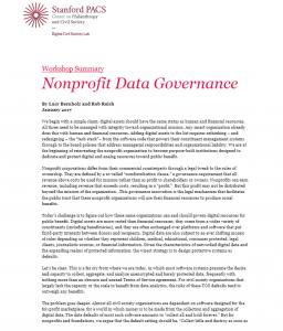 Nonprofit Data Governance