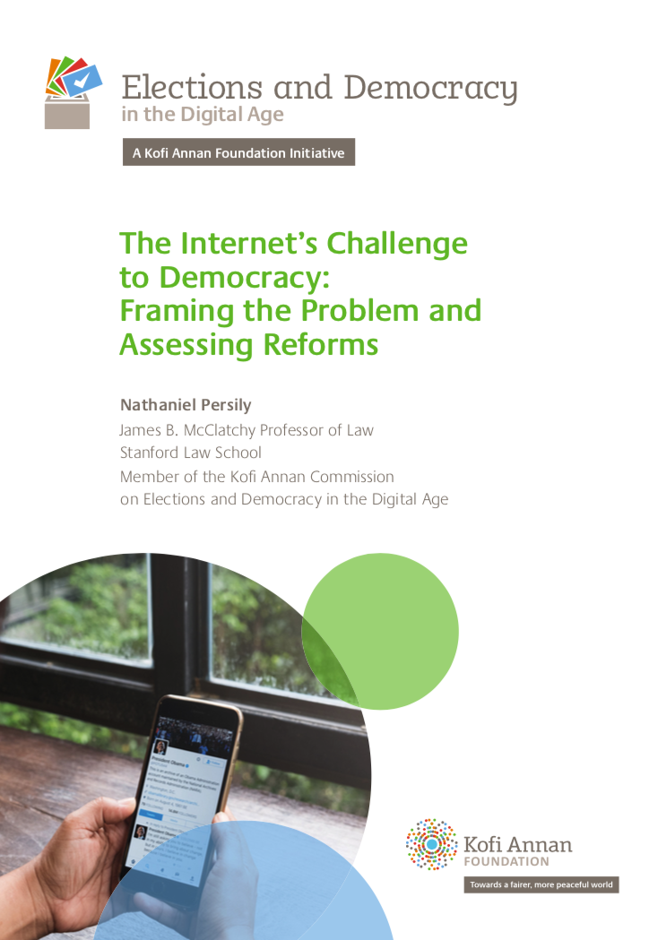 The Internet's Challenge to Democracy: Framing the Problem and Assessing Reforms - Stanford PACS